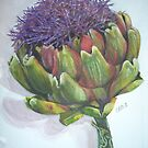Artichoke Bloom by cosmiqueus