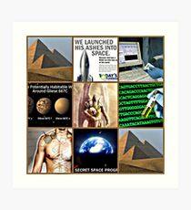 space burial Art Print