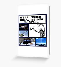 space burial Greeting Card
