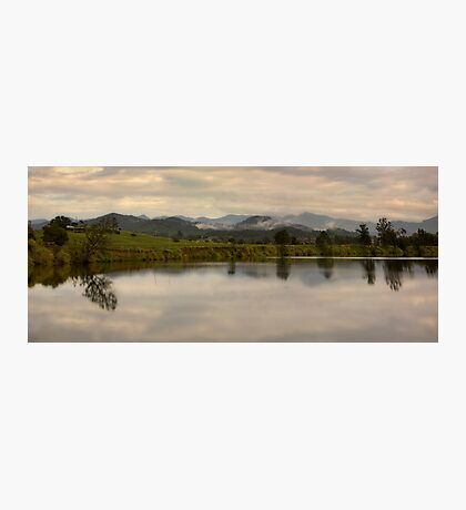 It's not easy to walk alone in the country without musing about something. Photographic Print