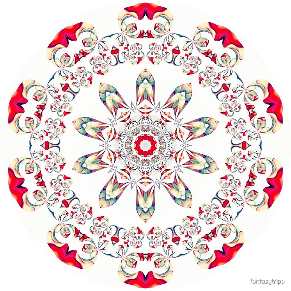 Ribbon Pattern Kaleidoscope 001 by fantasytripp