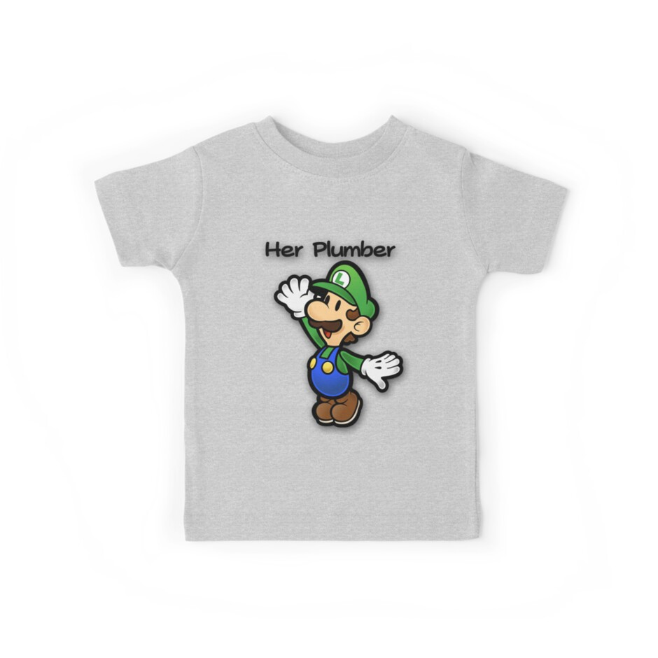 Mushroom Kingdom Couple: Luigi Shirt von taydizzle25