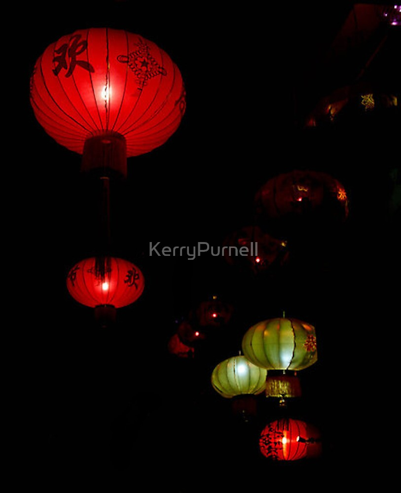 Night Alley Lanterns by KerryPurnell