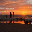 Port Willunga Jetty at Sunrise by Peter Edwards