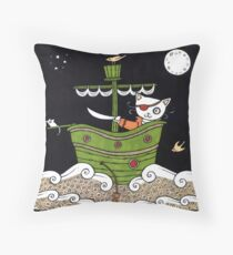 Pirate Puss Throw Pillow