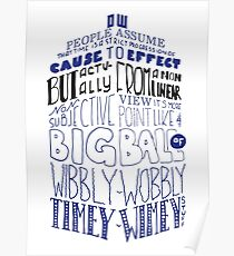 Doctor Who Timey Wimey Tardis Lettering Poster