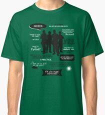 Stargate SG-1 - quotes (B/W design) Classic T-Shirt