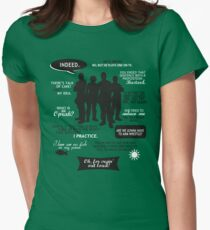 Stargate SG-1 - quotes (B/W design) Women's Fitted T-Shirt