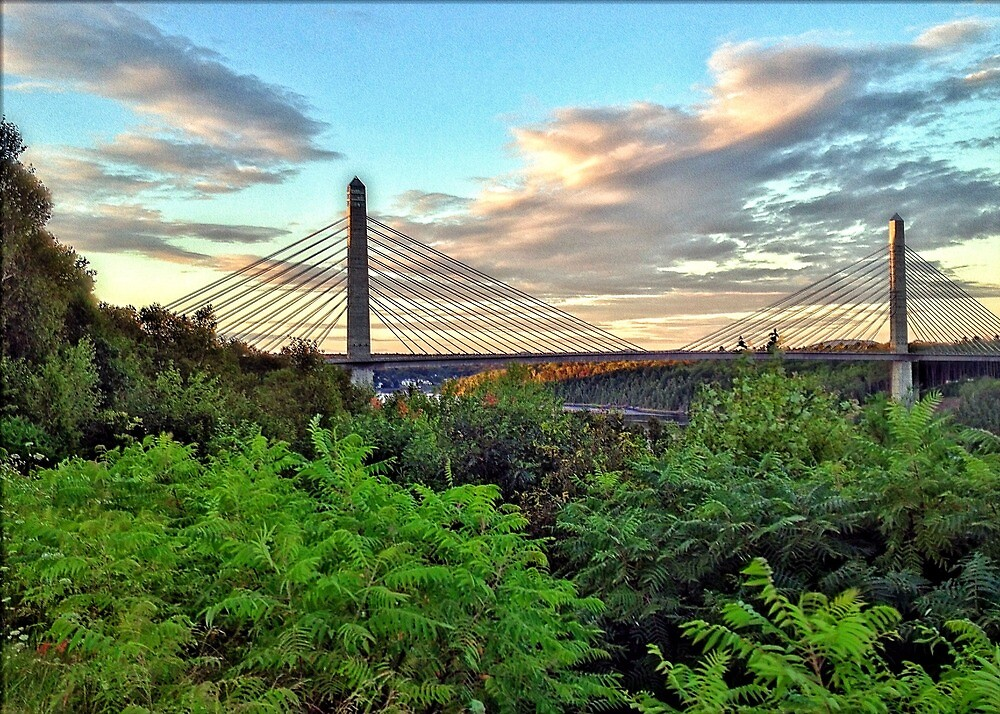 Fort Knox Bridge, Bucksport, Maine by fauselr