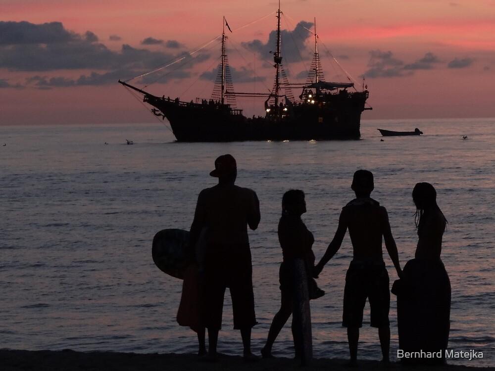drifting and drifting like a ship over the sea... flotando y flotando como un barco en el mar by Bernhard Matejka