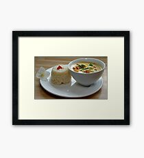 Thai Yellow Curry With Chicken and Vegetables Framed Print