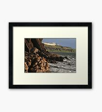 Hallett Cove, Rocky coastline cliffs, South Australia Framed Print