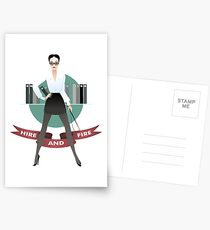 The personnel manager Postcards