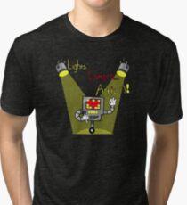 Undertale - Mettaton, Lights Camera Action! Tri-blend T-Shirt