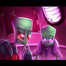 Invader Zim Fan Art - Almighty Tallest Red & Purple Portrait by MylaFox