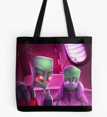 Invader Zim Fan Art - Almighty Tallest Red & Purple Portrait Tote Bag