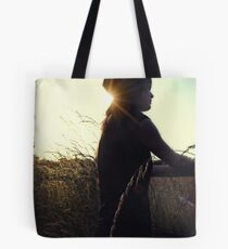 The Silhouetted cowgirl Tote Bag