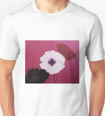 Ornamental Poppies in Pink Unisex T-Shirt