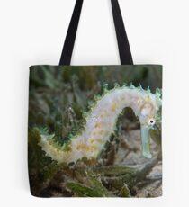 White seahorse Tote Bag