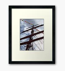 Mast of Windjammer Седов Framed Print