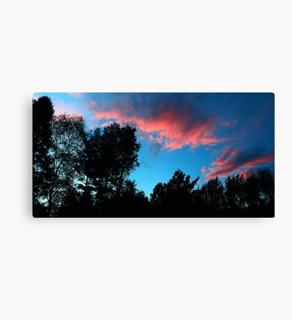 Redish Clouds Canvas Print