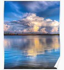 Crosby marina HDR storm clouds Poster
