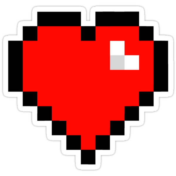 quot8bit heartquot stickers by geekery redbubble