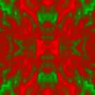 Green and Red Abstract Christmas Pattern by Scott Mitchell