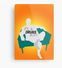 "BBC Sherlock ""It's a drugs bust!"" - Greg Lestrade Metal Print"