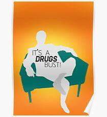 "BBC Sherlock ""It's a drugs bust!"" - Greg Lestrade Poster"