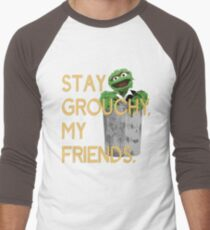 Stay Grouchy Men's Baseball ¾ T-Shirt