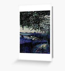 Walking back to Carmarthen, South Wales Greeting Card