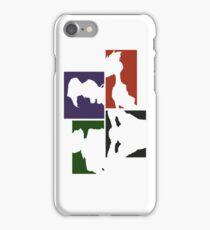 Cowboy Bebop Colored Panels iPhone Case/Skin