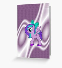 Custom Made Purple Pony Greeting Card