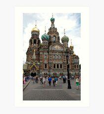 Church of the Saviour on Spilled Blood, St Peterburg Art Print
