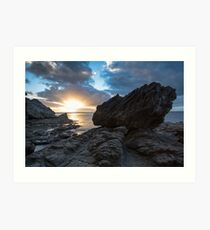King Fisher's Rock Art Print