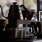 Not a teapot short and stout, coffee pot with caffiene clout! by Ell-on-Wheels
