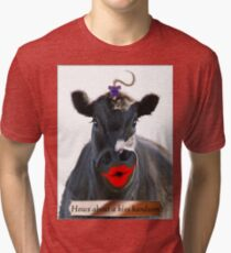 HOWS ABOUT A KISS HANDSOME Tri-blend T-Shirt
