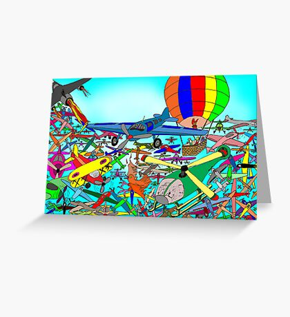 Aeronautical rush hour Greeting Card