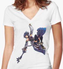 Aqua - Night Sky Edit Women's Fitted V-Neck T-Shirt