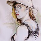 Girl With the Aussie Hat by Reynaldo