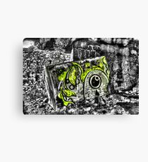 Graffiti in the Gibraltar Bunkers Canvas Print