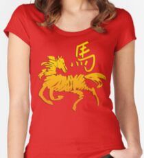 Year of The Horse Women's Fitted Scoop T-Shirt