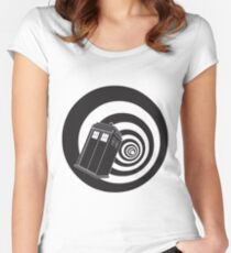 Doctor Who - TARDIS Mod Vortex Time Tunnel Women's Fitted Scoop T-Shirt