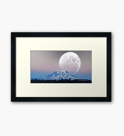 Giant Super Moon Framed Print