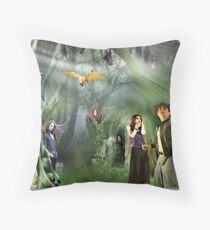Divergent Paths of Evolution Throw Pillow