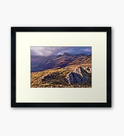 Langdale Light, Great Langdale - The Lake District Framed Print
