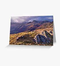 Langdale Light, Great Langdale - The Lake District Greeting Card