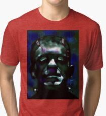 """The Monster"" Frankenstein Painting Tri-blend T-Shirt"
