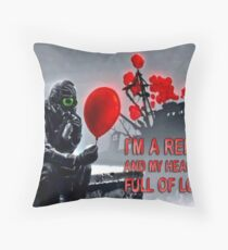 Rebel with a heart full of love Throw Pillow